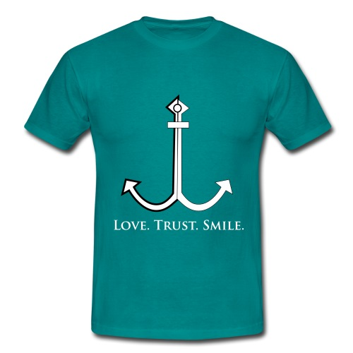 Love Trust Smile - Männer T-Shirt