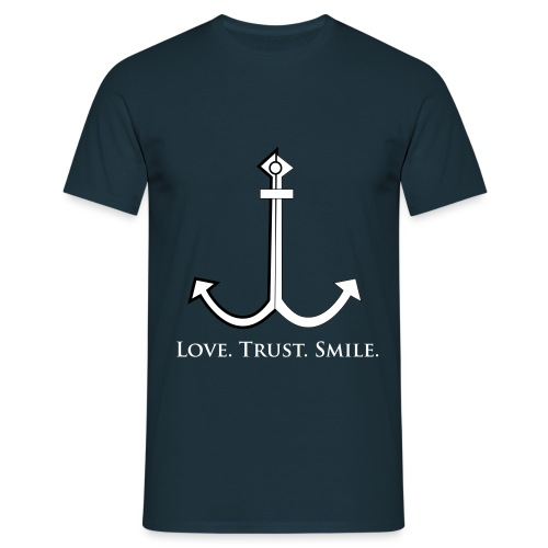 Love Trust Smile - Männer T-Shirt