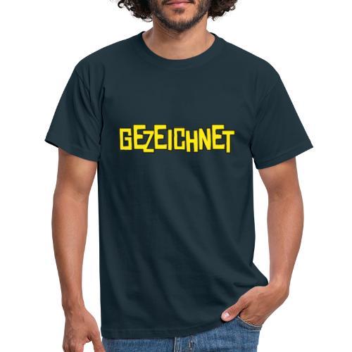 Gezeichnet Logo Gelb - Männer T-Shirt