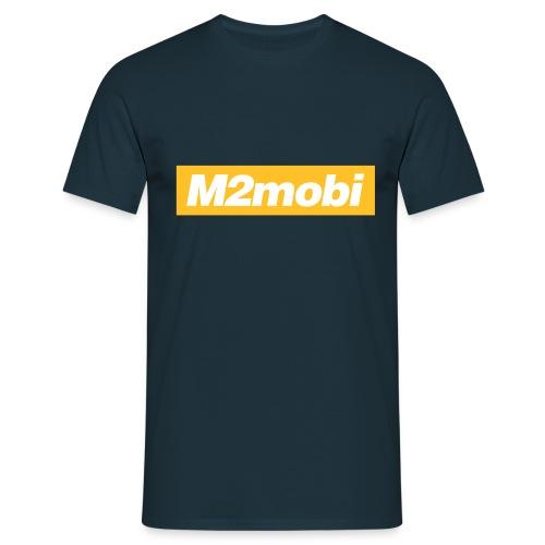 M2mobi oblique 02 - Mannen T-shirt