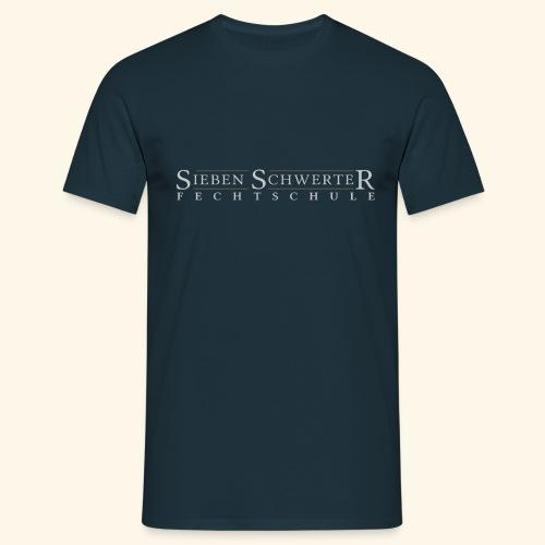 Fechtschule Schriftzug hell - Männer T-Shirt