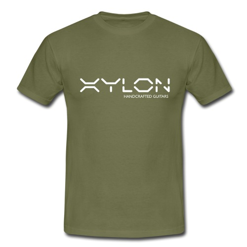 Xylon Handcrafted Guitars (name only logo white) - Men's T-Shirt
