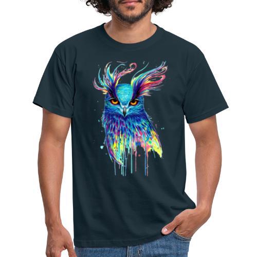 Buho multicolor - Camiseta hombre