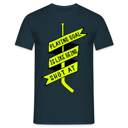 playing_goal_is_like_bein - Men's T-Shirt