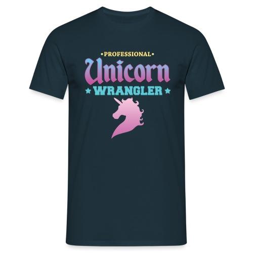 Professional Unicorn Wrangler - Men's T-Shirt