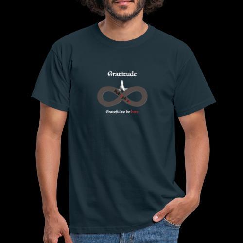 Gratitude front - Männer T-Shirt