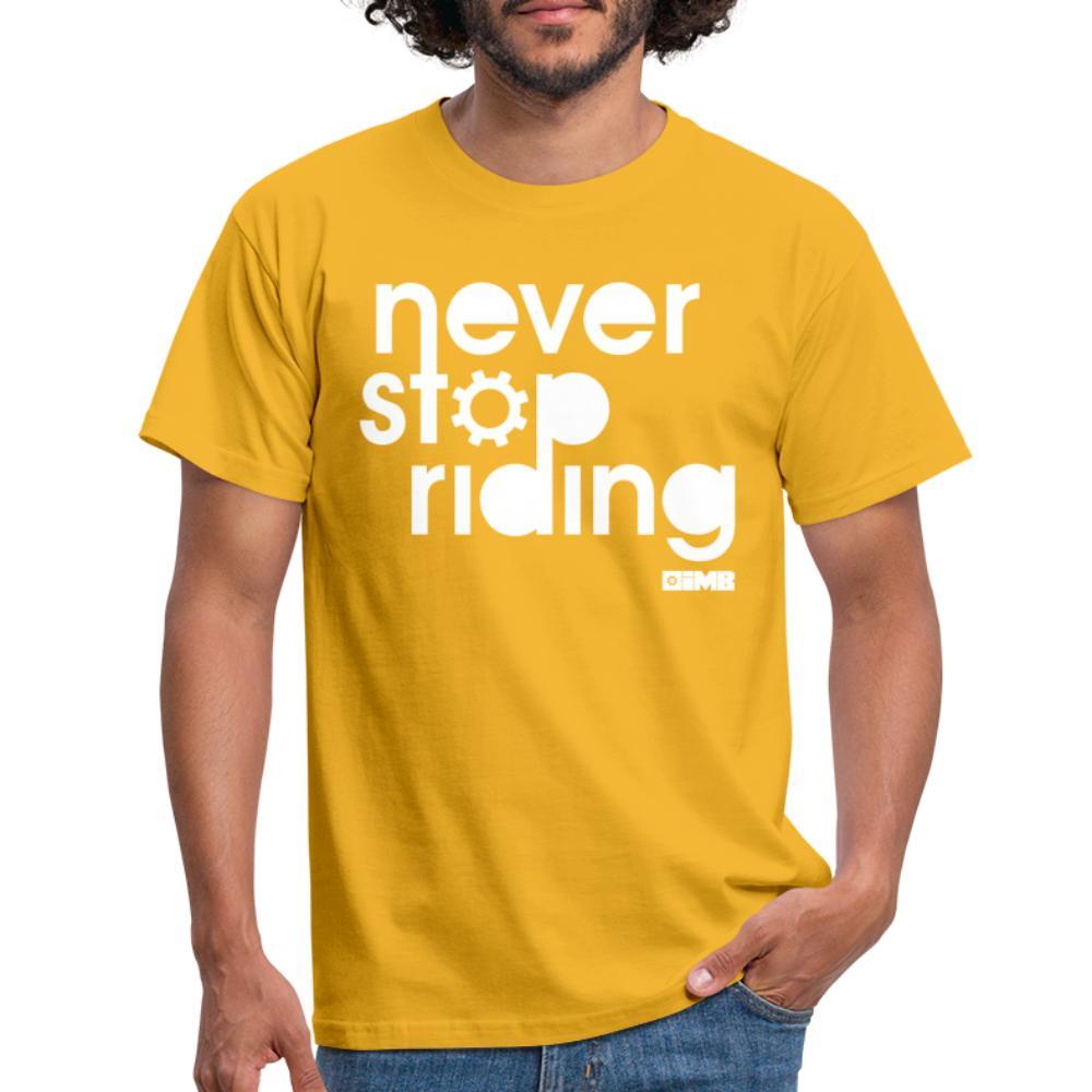 Never Stop Riding - Men's T-Shirt - yellow