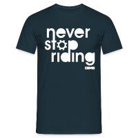 Never Stop Riding - Men's T-Shirt - diva blue