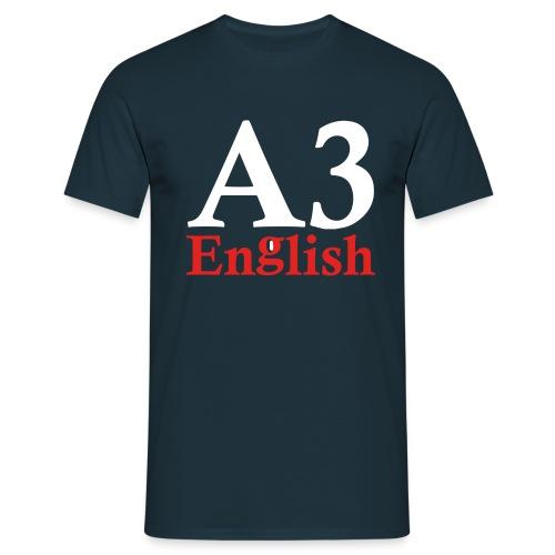 A3Small logo 2 - Men's T-Shirt
