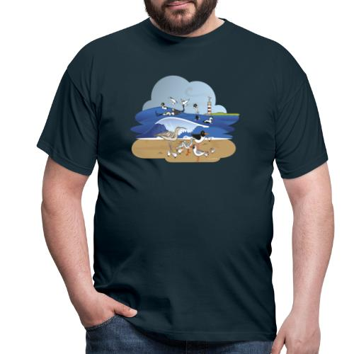 See... birds on the shore - Men's T-Shirt