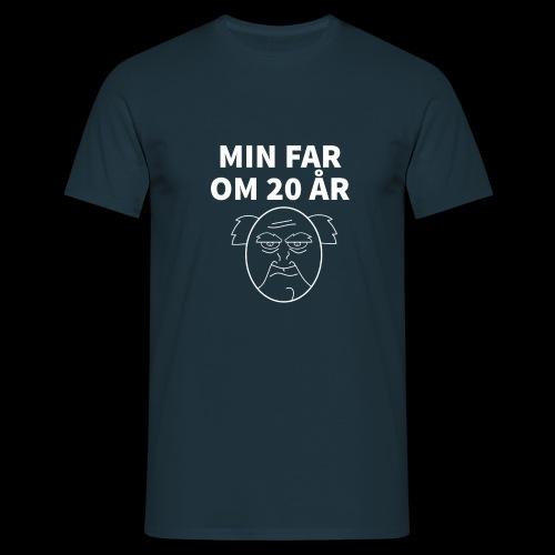 Min Far Om 20 År (Moto) - Herre-T-shirt