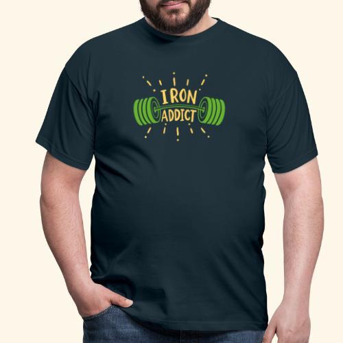 Langhantel Iron Addict Gym Shirt - Männer T-Shirt