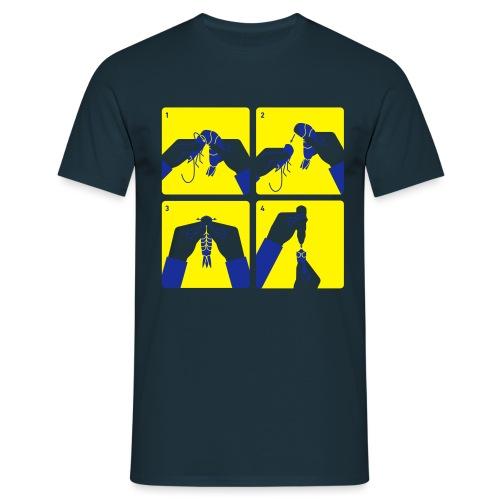 peel shrimp - Men's T-Shirt