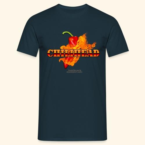 Chili Fan T Shirt Design Chilihead - Männer T-Shirt