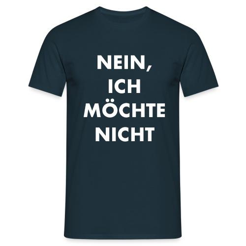 nein, ich möchte nicht_ws_block - Männer T-Shirt