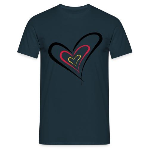herz deutschland - Männer T-Shirt