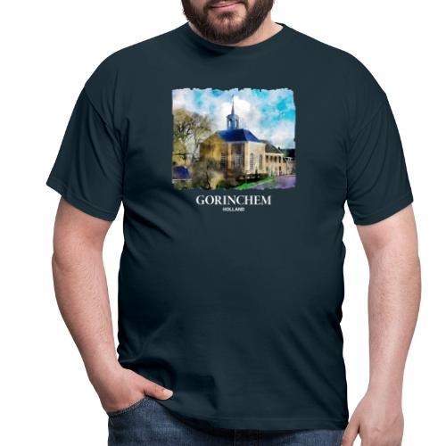 Watercolor painting Dalemse kerk Gorinchem - Mannen T-shirt