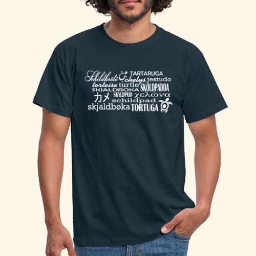 Schildkröte Sprachen Motiv - Männer T-Shirt