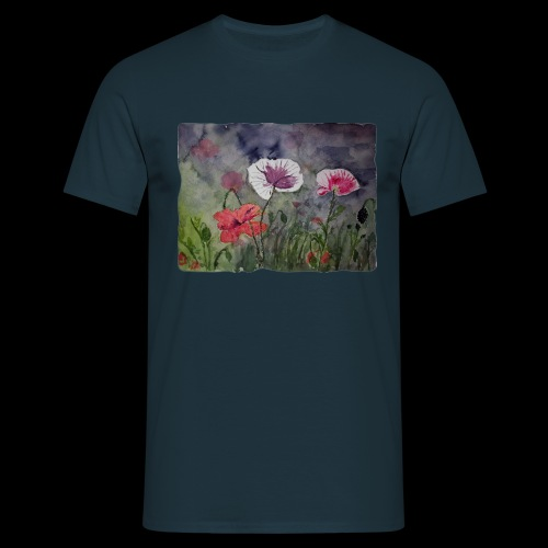 Mohnblume - Männer T-Shirt