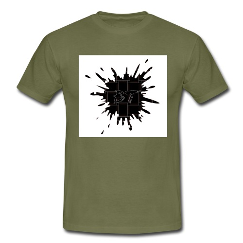 Blacktuber Splash Logo - Mannen T-shirt