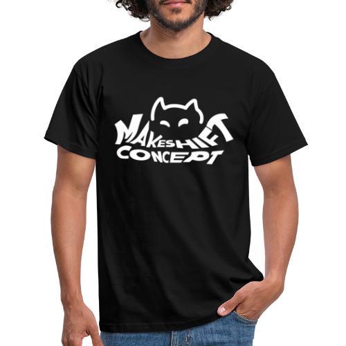 Makeshift Concept Cat Logo Weiß - Männer T-Shirt