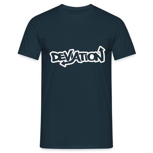 deviation white - Men's T-Shirt
