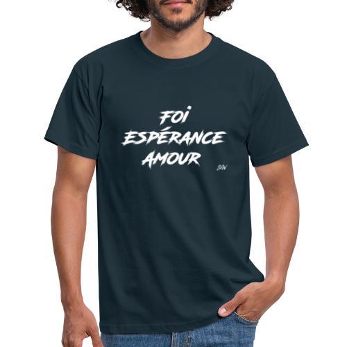 Foi Espérance Amour - T-shirt Homme