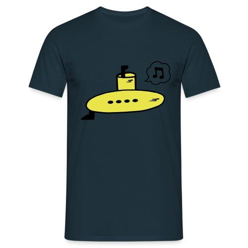 Singing Yellow Submarine - Men's T-Shirt