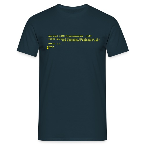 Amstrad CPC 6128 retro gaming and vintage computer - Men's T-Shirt