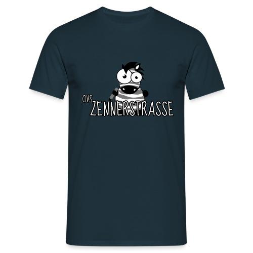 Zebra SW weiss - Männer T-Shirt