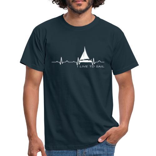 barca vela cuore military dna - Maglietta da uomo
