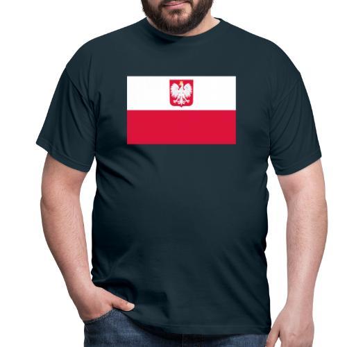 Flag of Poland with coat of arms - Koszulka męska