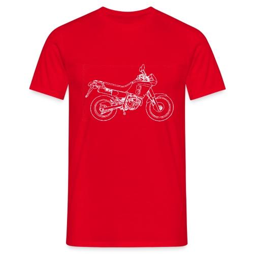 NX line wit - Mannen T-shirt