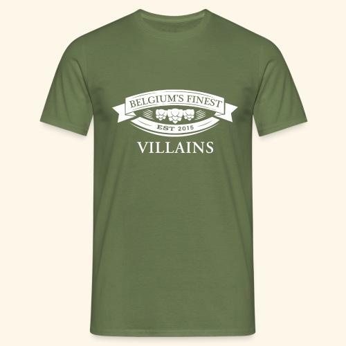 BelgiumFinestEst2015Villains volledigwit - Men's T-Shirt