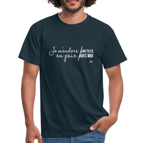 Je m'endors en paix car tu es avec moi - T-shirt Homme