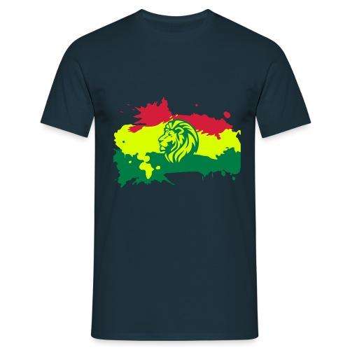 Zion Lion Flagge Reggae - Männer T-Shirt