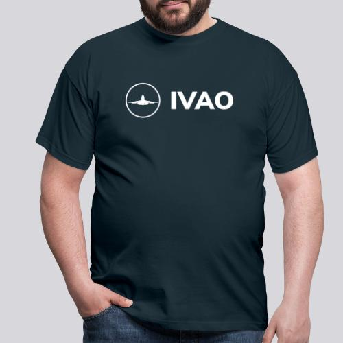 IVAO (Logo Complet Blanc) - T-shirt Homme