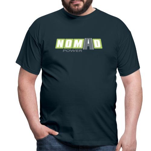 Nomadpower logo zonder wit - Mannen T-shirt