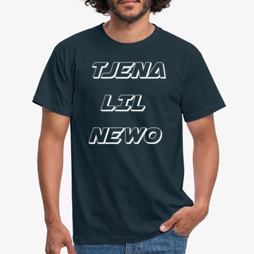 Tjena lil newo STOR TEXT - T-shirt herr