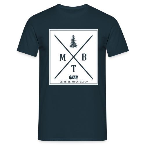 Block MTB wht pic - Men's T-Shirt