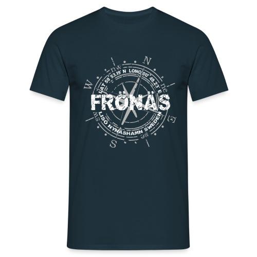 fronas loggo whitegrey - T-shirt herr