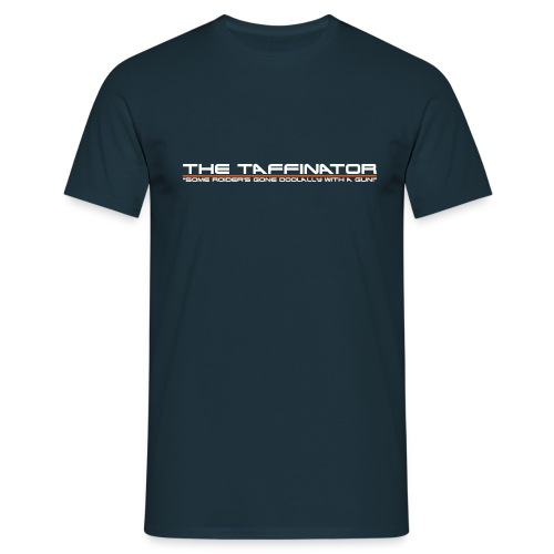 taffinator white red 2 - Men's T-Shirt
