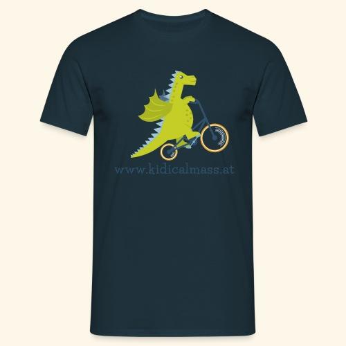 Musikdrache für hellen Hintergrund - Männer T-Shirt