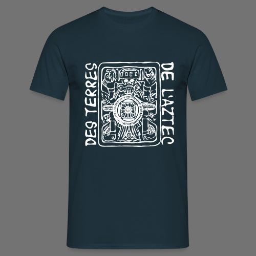 Des Terres De L'Aztec (wit) - Mannen T-shirt