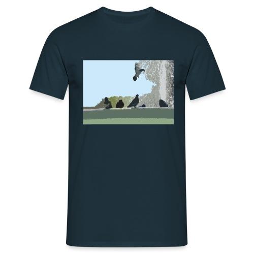 Chillin' pigeons - Mannen T-shirt