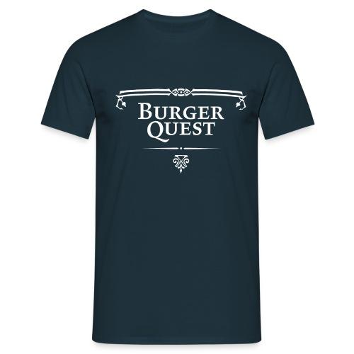 Burgerquest Logo pixel - Mannen T-shirt