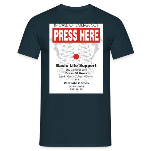 pixel presshere - Männer T-Shirt