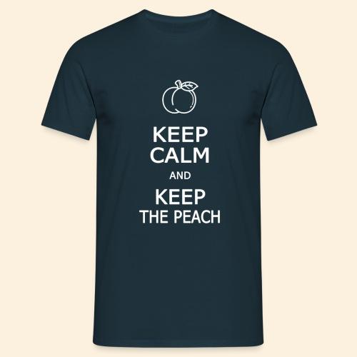 Keep calm and keep the peach - T-shirt Homme