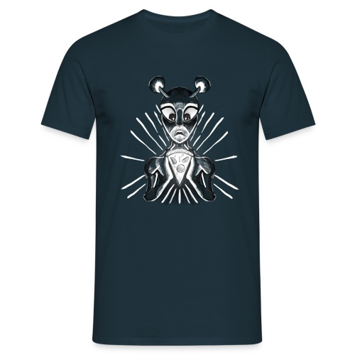 Alien mit Pizza - Männer T-Shirt