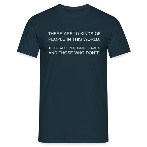binary - Männer T-Shirt